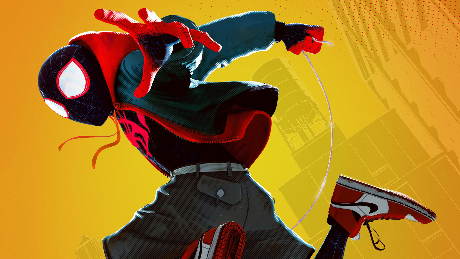 Miles Morales in Spiderman: Into the Spiderverse